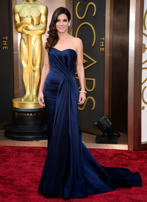 Oscars 2014 Red Carpet, Sandra Bullock