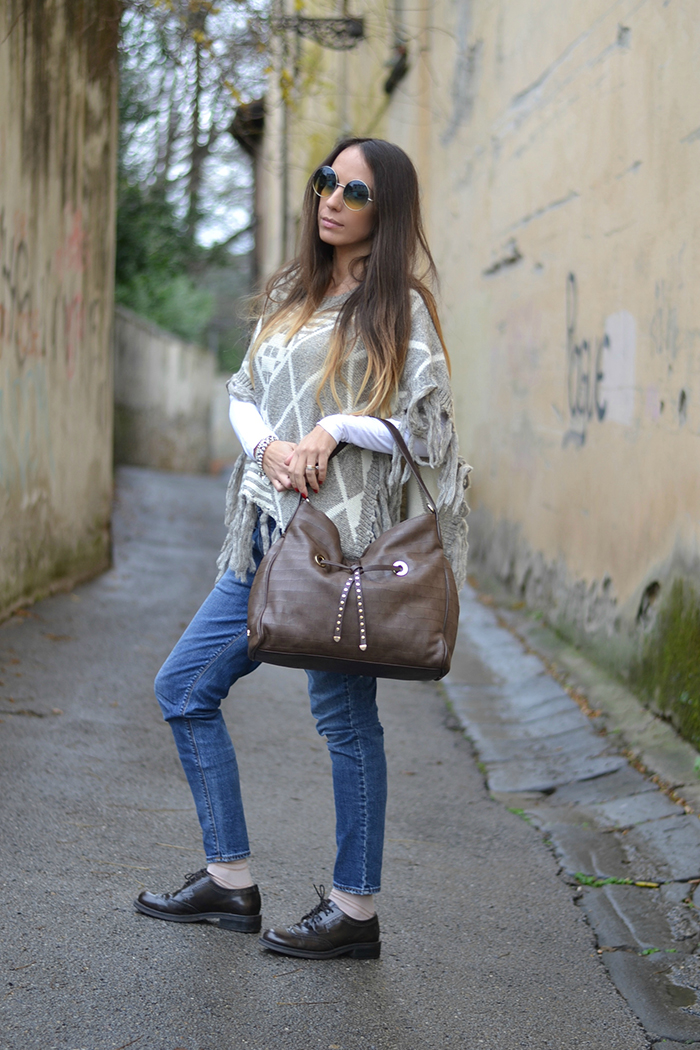 look marrone beige