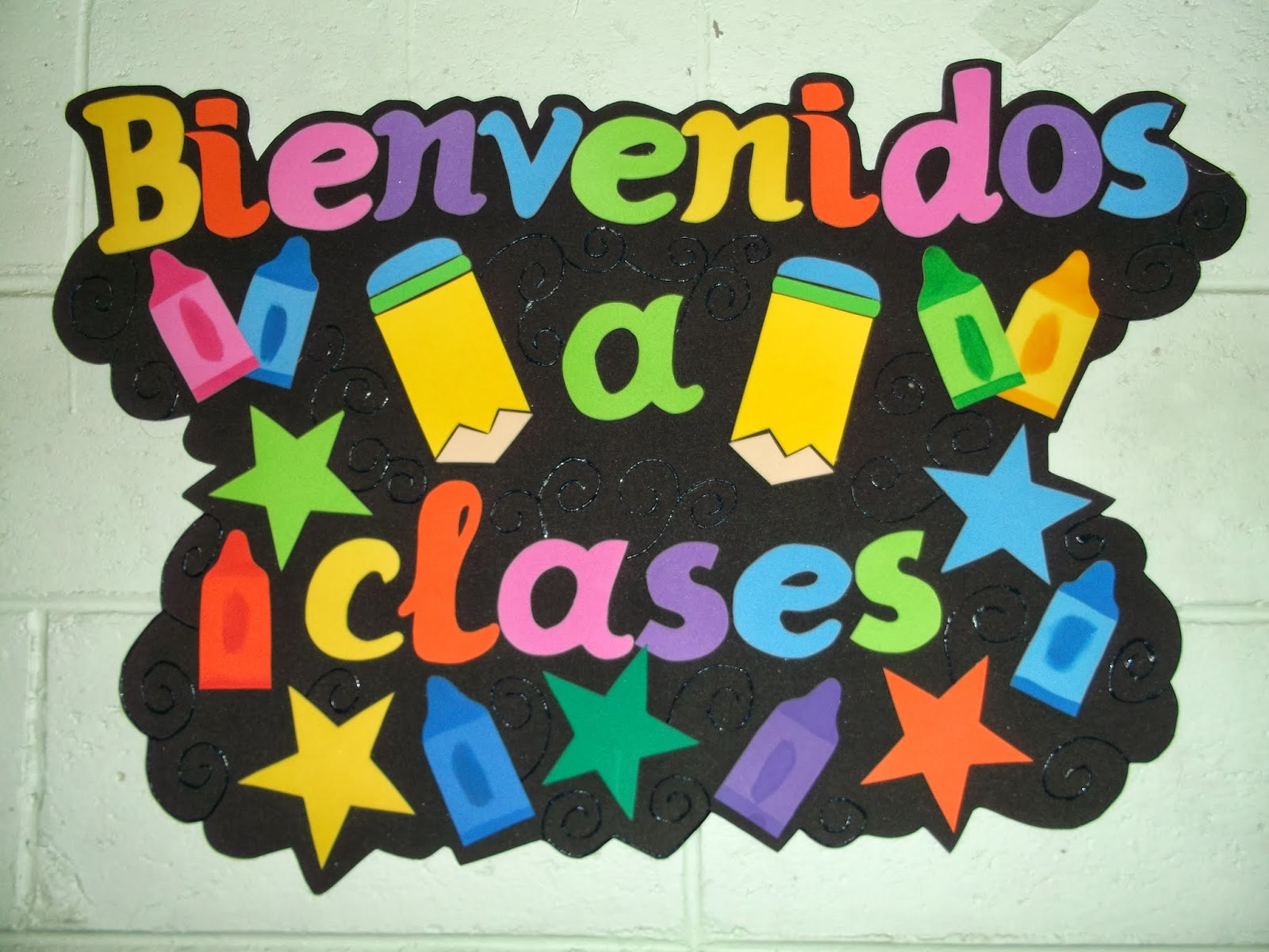 Carteles de bienvenida a clases en foami - Imagui