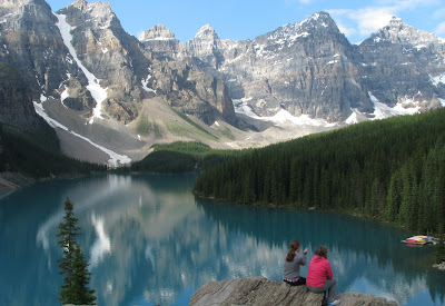 Moraine Lake i Banff National Park, Canada.