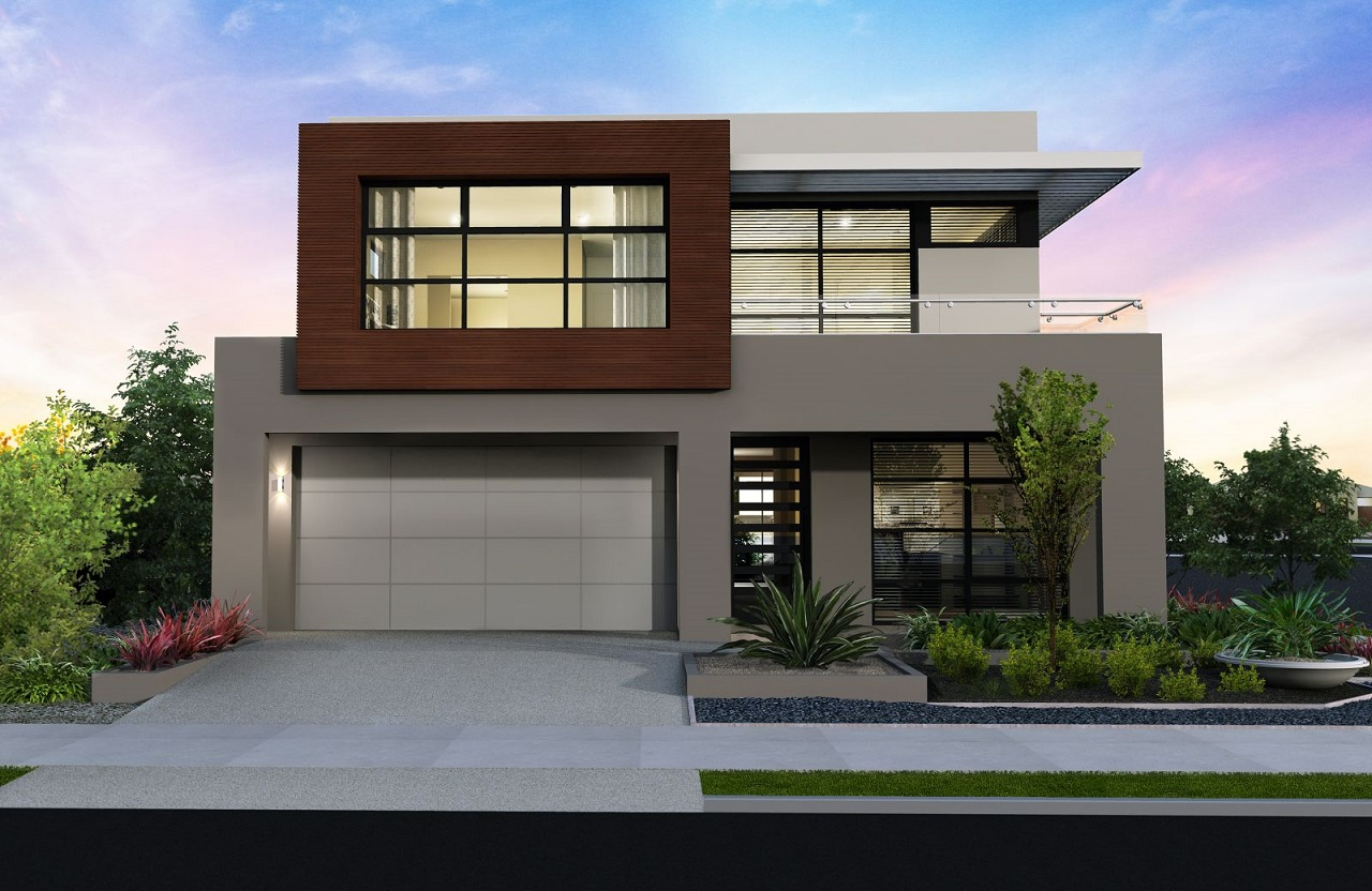 Construindo minha casa clean 35 fachadas de casas for Fachadas modernas para casas de dos pisos
