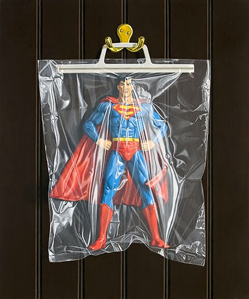 07-Clark-Kent-Superman-Simon-Monk-Bagged-Superheroes-in-Painting-www-designstack-co