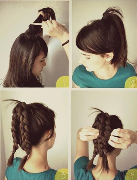Langkah 1. Sasak bagian atas rambutmu dengan sisir sasak, kecuali poni ...