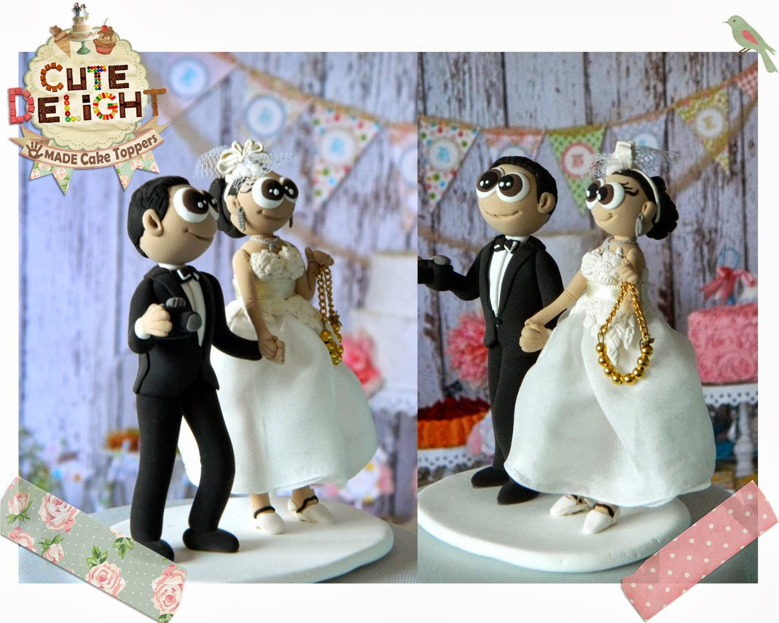 Wedding cake toppers Custom Cake Topper Funny cake