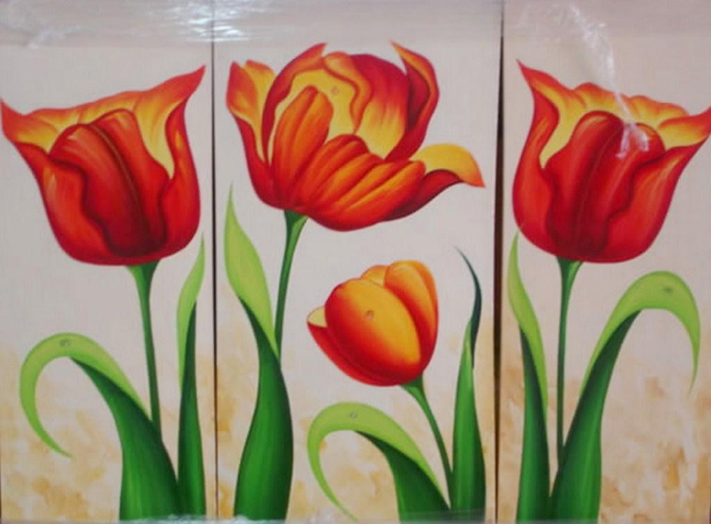 con flores decorativos cuadros modernos con flores pinturas modernas