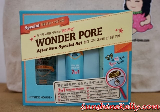 New Year New You with Bag Of Love Review, New Year New You, Bag Of Love, beauty bag, beauty review, Etude House, Etude House Wonder Pore After Sun Special Set