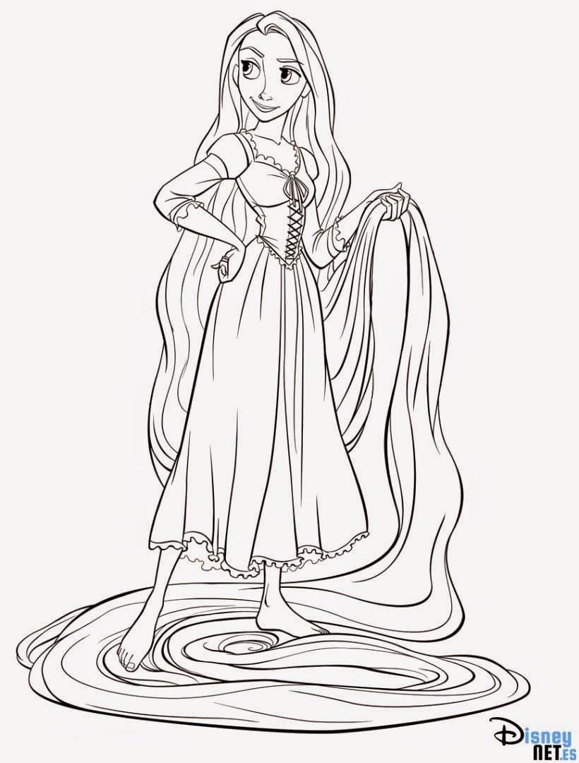 Único Para Colorear Imprimible De Rapunzel Composición - Dibujos de ...