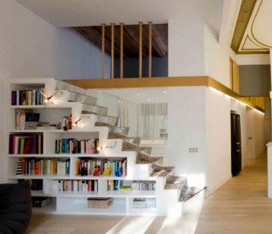 Artdec dia del libro for Aprovechar hueco escalera duplex