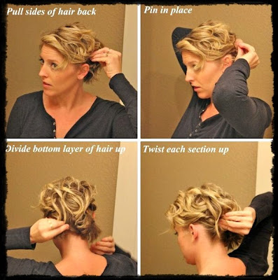 How to do cute easy updos for short hair