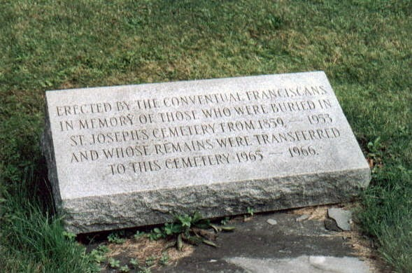 Climbing My Family Tree: Memorial stone for those graves  transferred from St. Joseph's Cemetery  to Assumption Cemetery, Syracuse NY