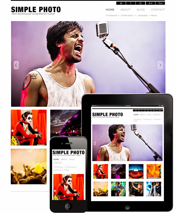 Download Simple Photo - Free Responsive Wordpress Portfolio Themes 2015