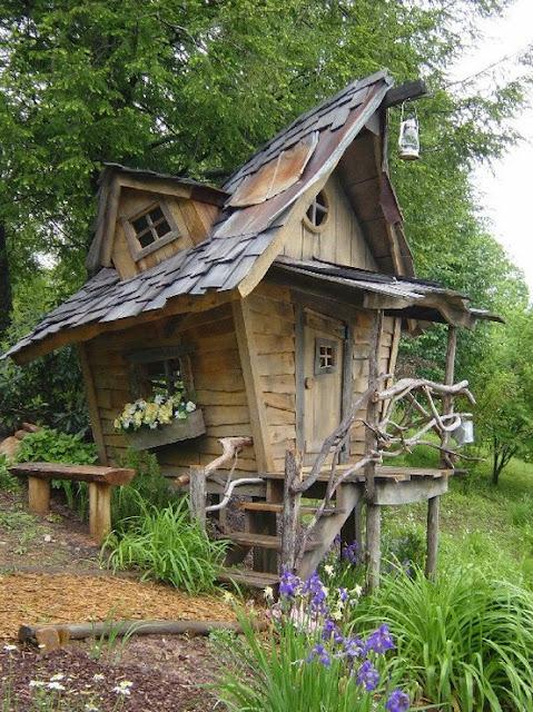 Дом бабы яги для сада