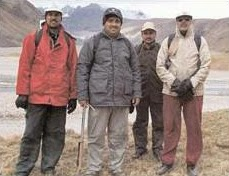 Team of scientists who were on a research trip through the barren Samudra Tapu Valley