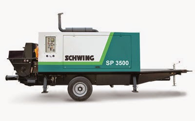 Schwing SP3500 stationary concrete pump