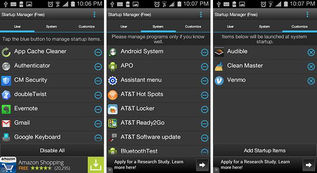 3 Aplikasi Cleaner Android Terbaik - Startup-manager