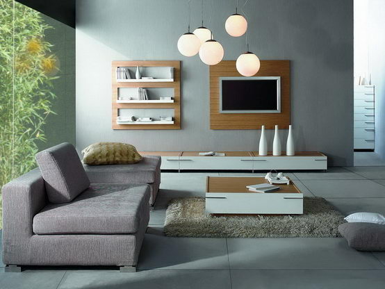 The modern living room for Minimalist design for small living room