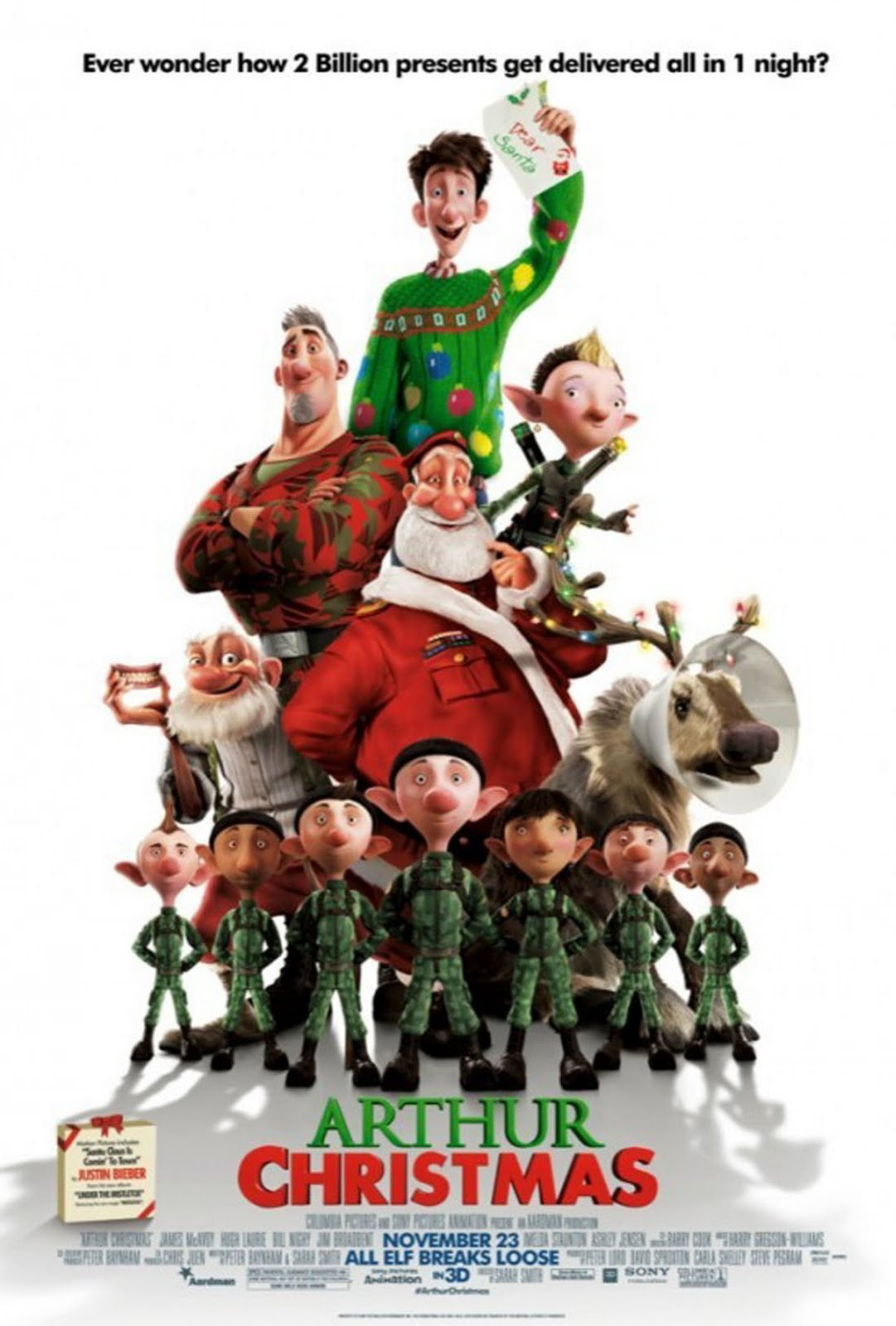 movies  posters of arthur christmas  2011