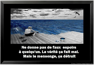 Citation mensonge avec image