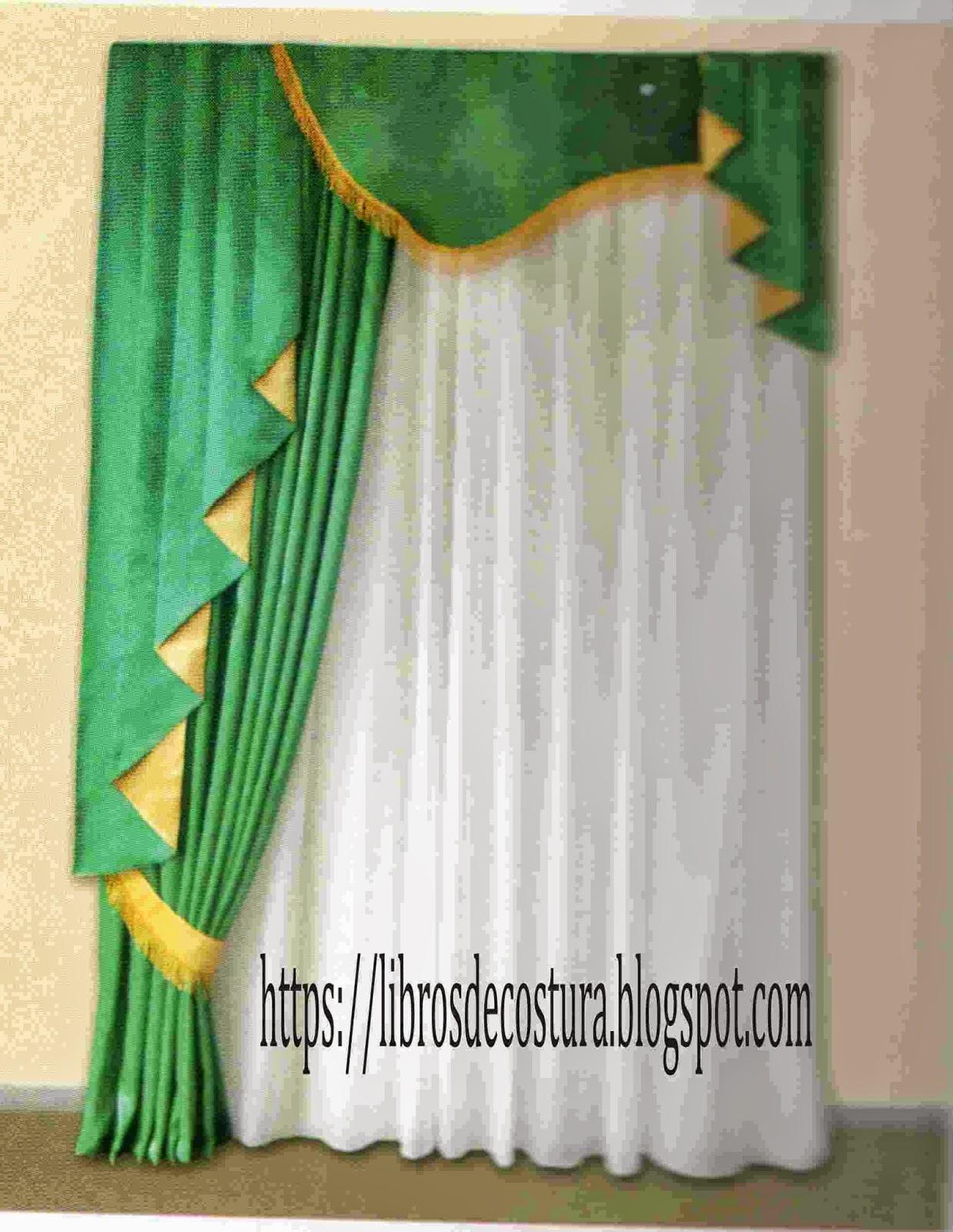 Libros de costura como hacer cortinas paso a paso - Como hacer cortinas de salon ...