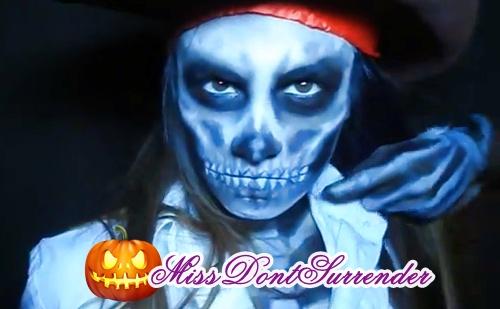 Maquillaje de pirata tetrico por MissDontSurrender