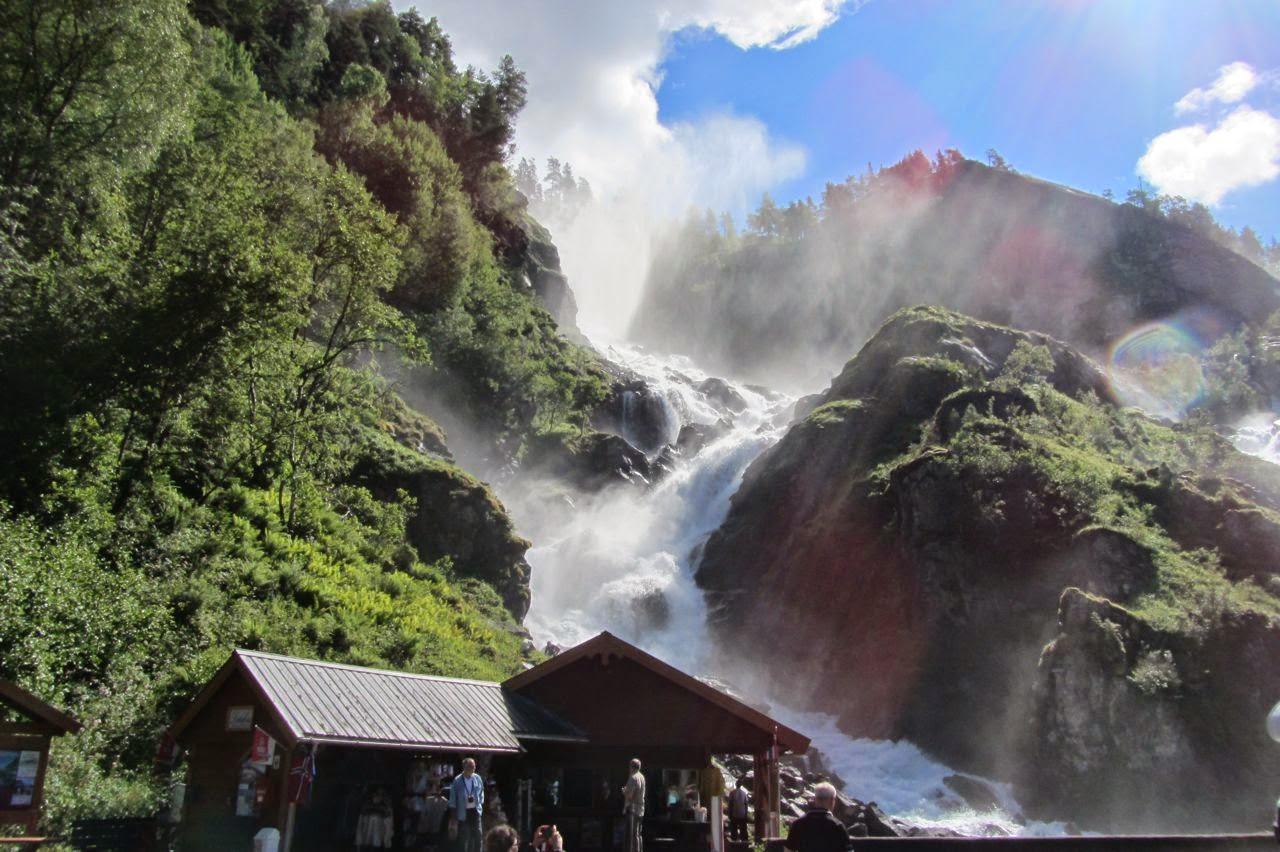 Noorwegen waterval Latefossen