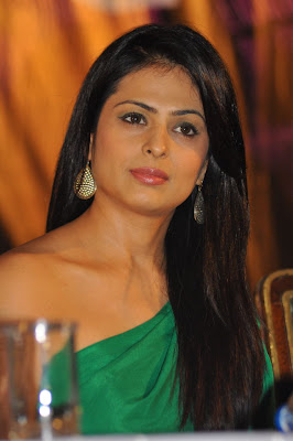 Anjana in green dress looking awesome