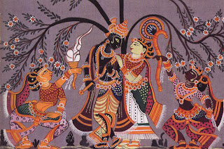 Radha and Krishna symbolize the loving  unity of the feminine and masculine principles in vedic concepts of manifestation.