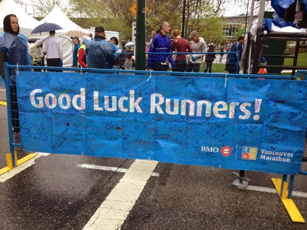 Vancouver Marathon 2014 Good Luck runners banner