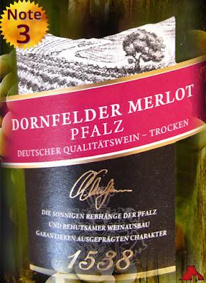 Weinkellerei Hechtsheim Linie 1538 Dornfelder Merlot Pfalz 2012/2013