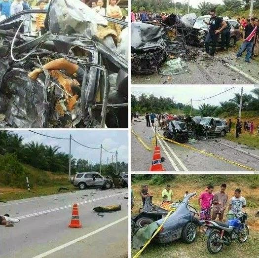 9 Gambar tiga maut kemalangan ngeri di Dungun