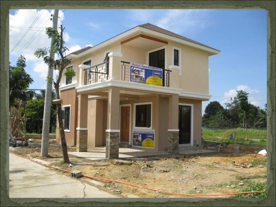 Emerald dream home designs of lb lapuz architects for Cheap two story houses