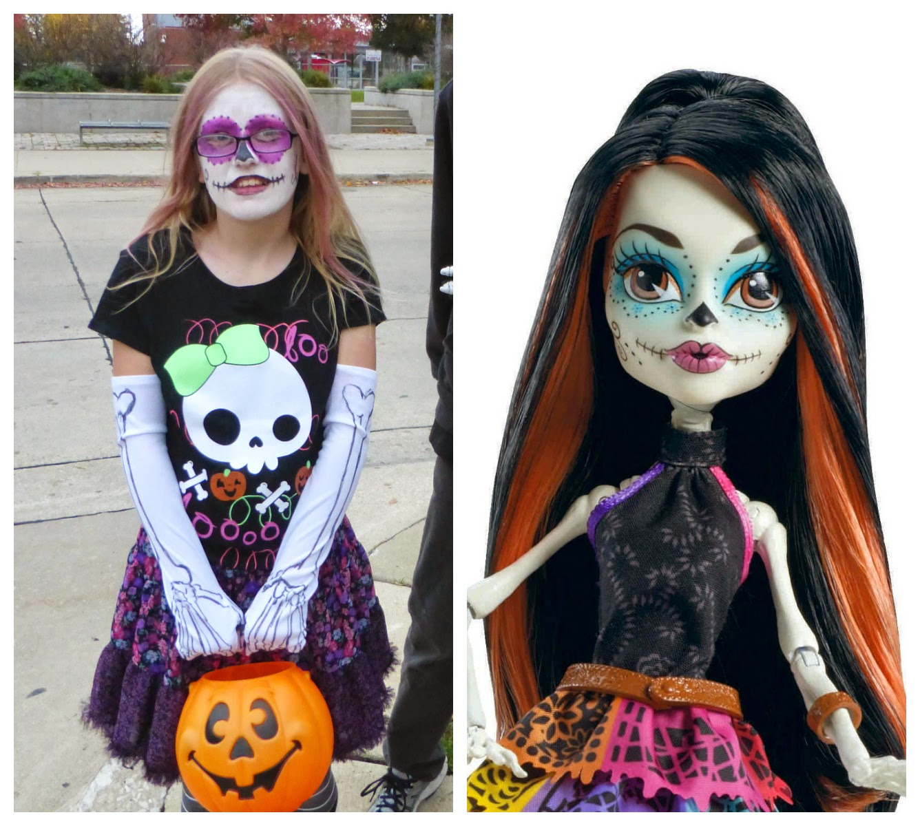 news, halloween, costumes, face paint, Skelita, Monster High