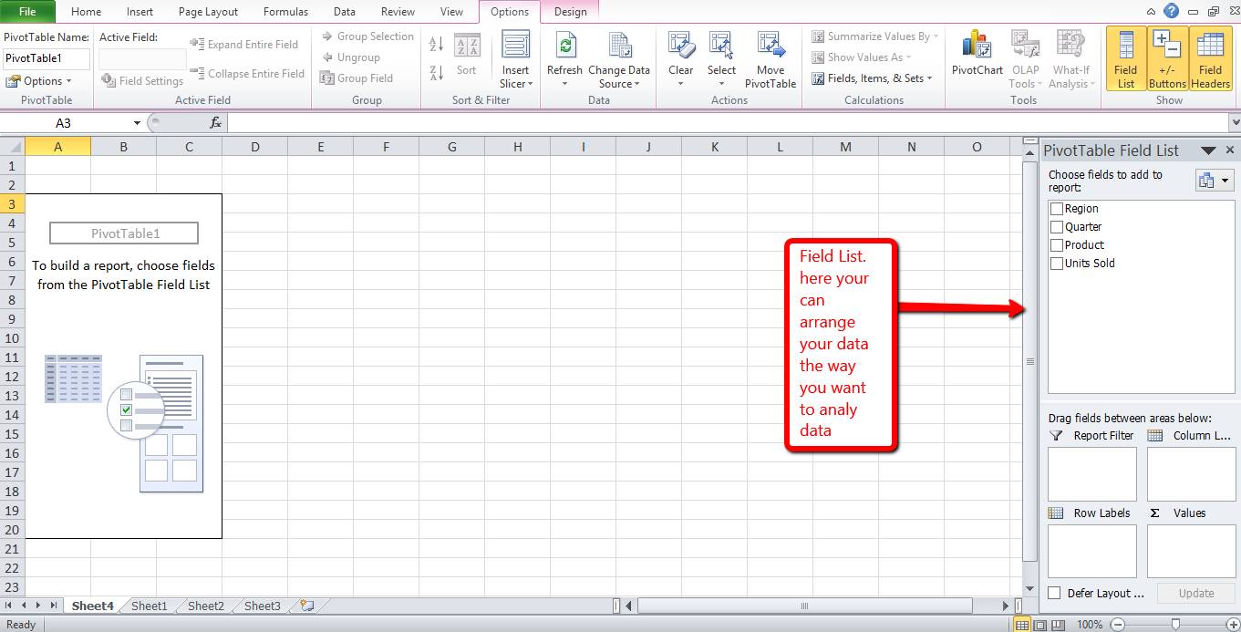 Excel Pivottable