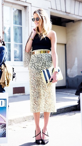 style next door- LACE SKIRT