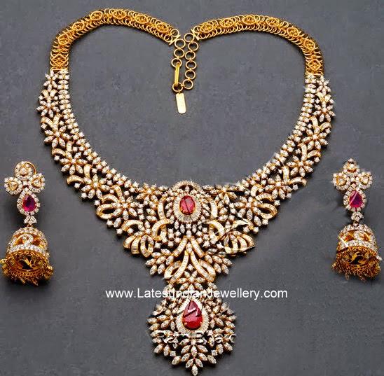 heavy diamond bridal necklace