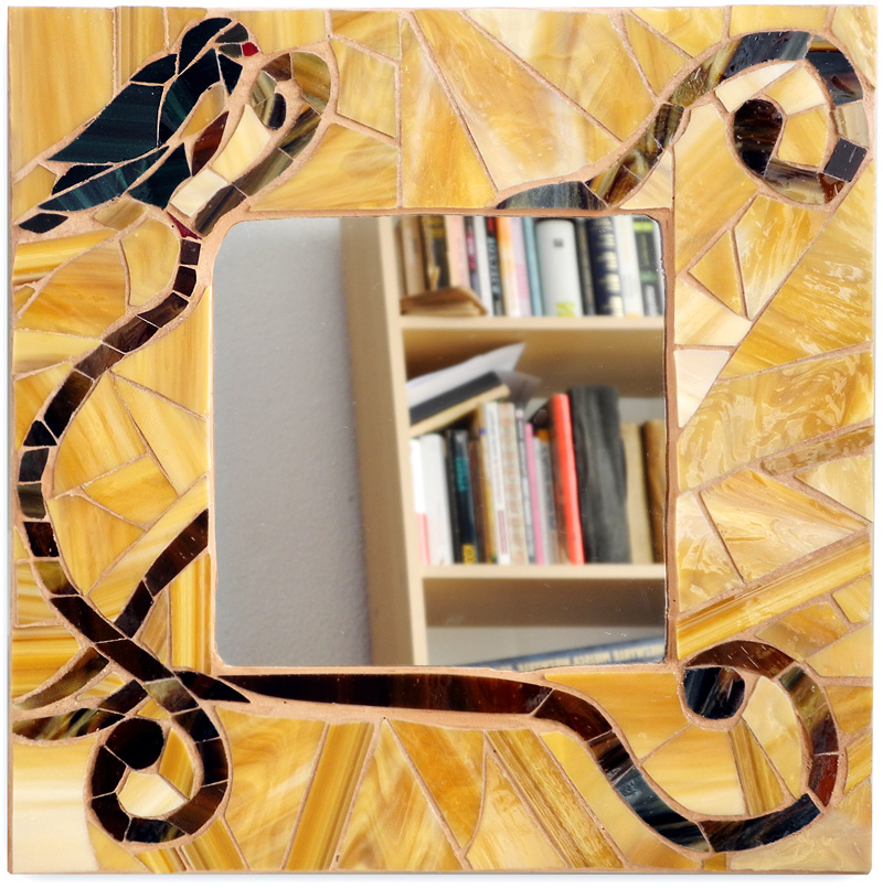 mozaika szklana - lusterko