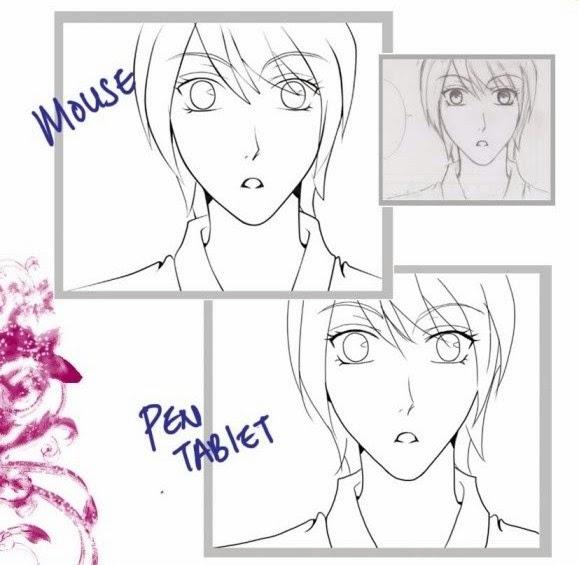 Line Art Wajah : Yokoso tutorial paint tool sai untuk pemula