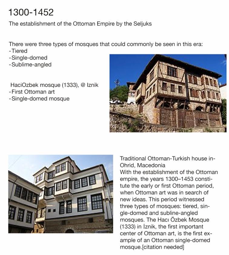 ottoman architectural timeline islamic architecture
