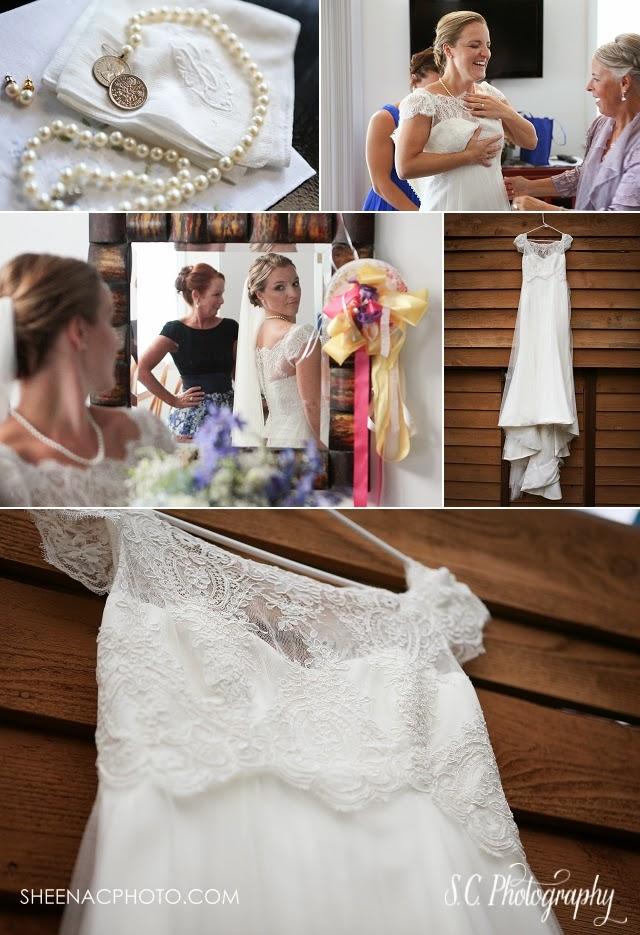 Raimon Bundo lace dress, organza, bridal six pence