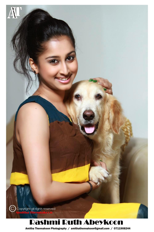 Rashmi Ruth Abeykoon with dog