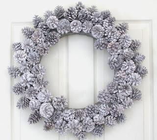 Decoración Navideña, Coronas Blancas
