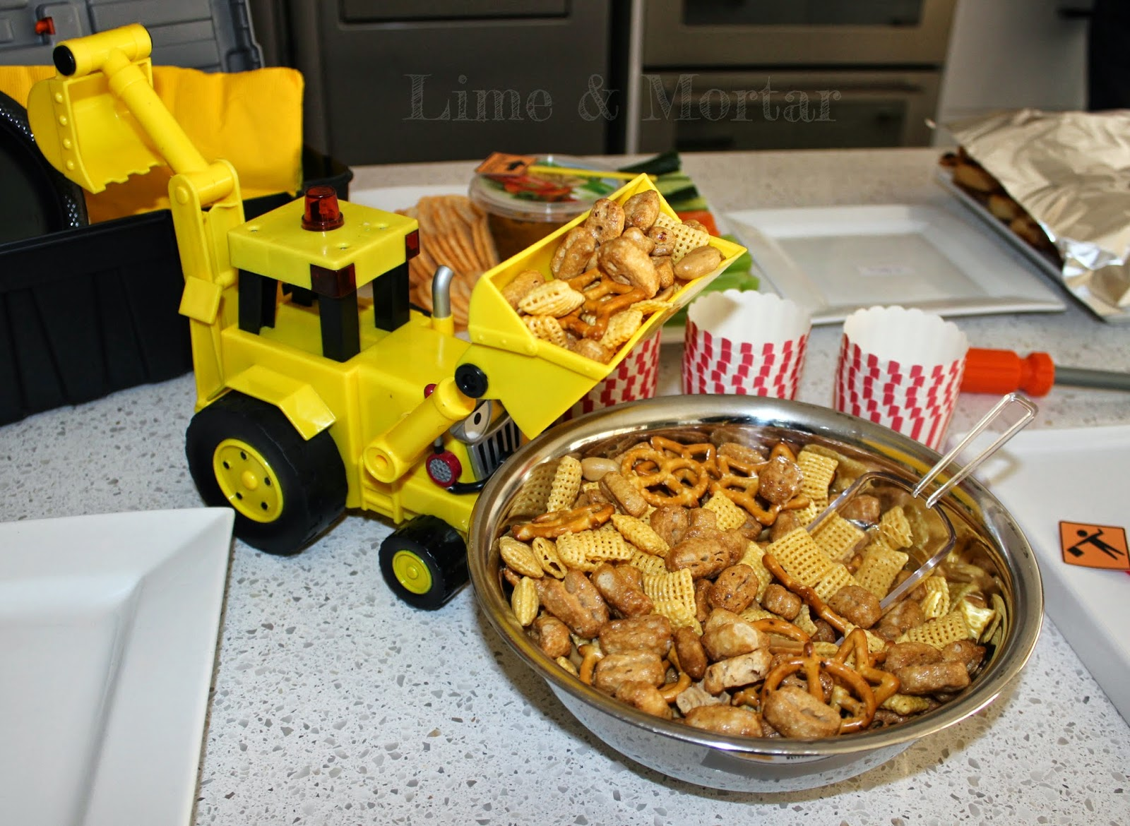 Lime mortar construction theme party food for Construction cuisine