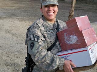 Pfc. Lucero Garcia, in Baghdad. Photo by US Army