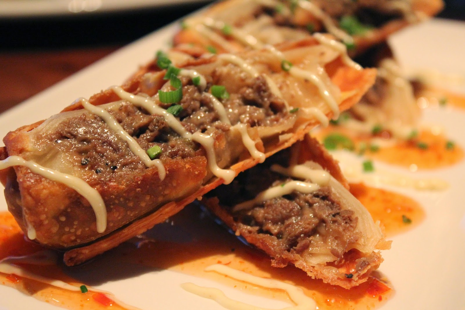 Cheesesteak egg rolls at Del Frisco's Grille