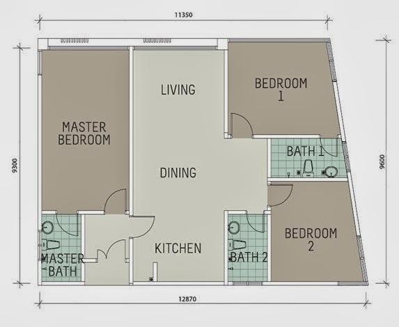 Floor plan feng shui january 2014 for Feng shui doors facing each other
