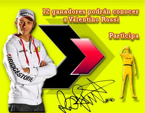 Gana un viaje circuito MotoGp y conoce en persona a Valentino Rossi.