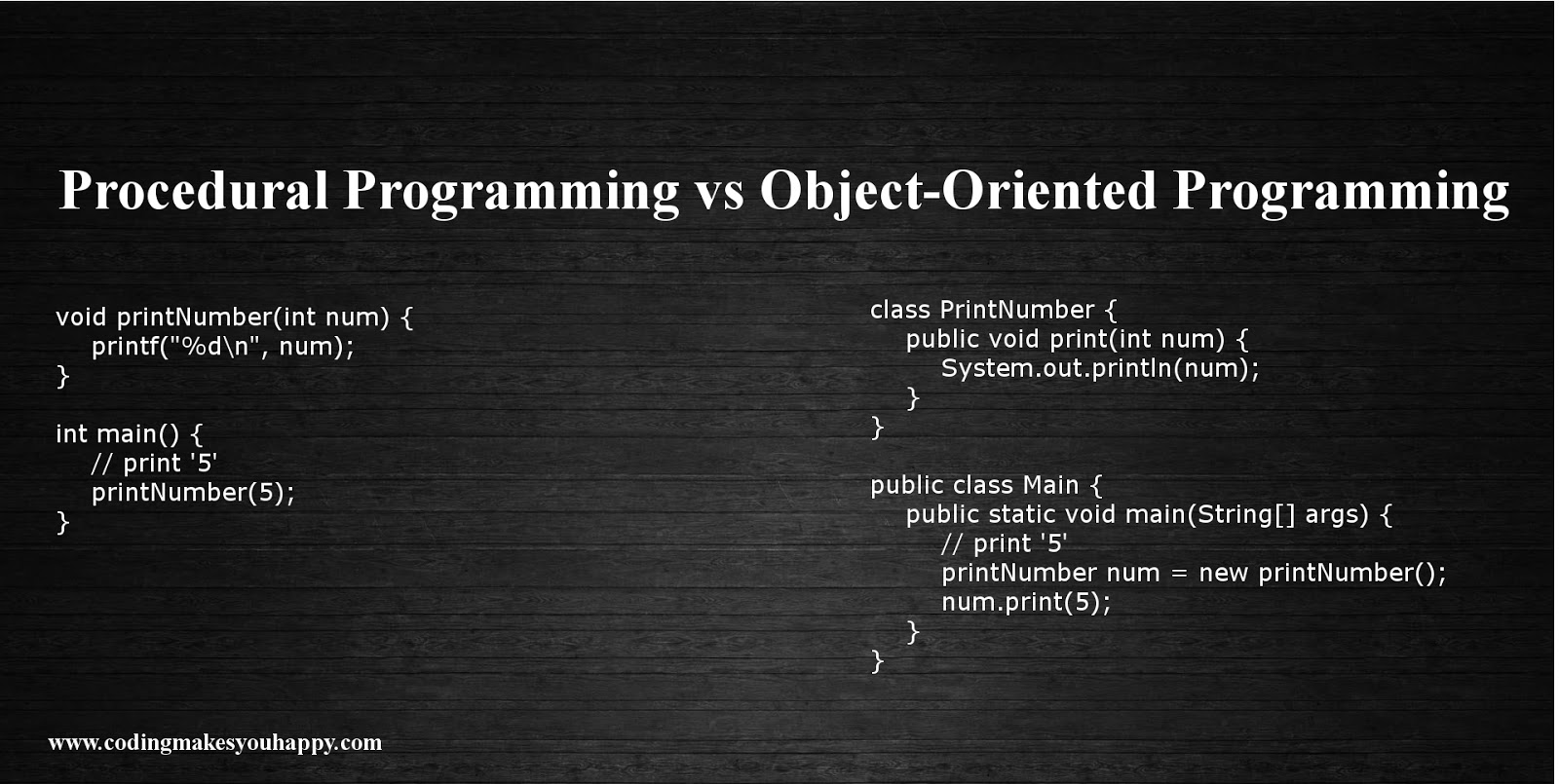 object oriented programming Everybody loves object oriented programming (oop) hiding implementation  details to decrease complexity less rewriting code.