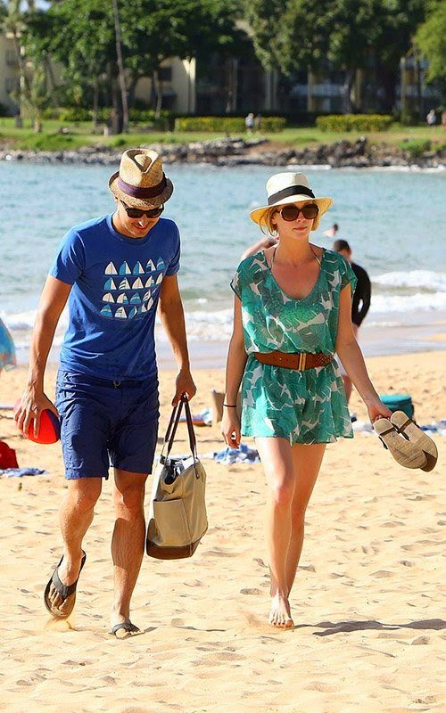Candice Accola was spotted enjoying a vacation in a colorful bikini with musician fiancé, Joe King at Maui, Hawaii on Tuesday, April 15, 2014