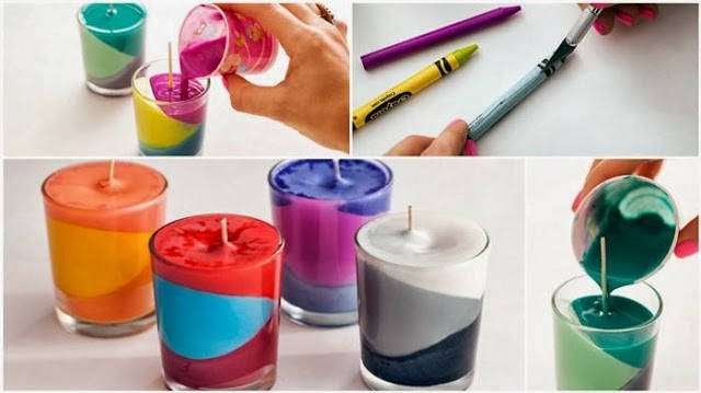 C mo hacer velas decorativas muticolores con crayones for Decoracion del hogar con velas
