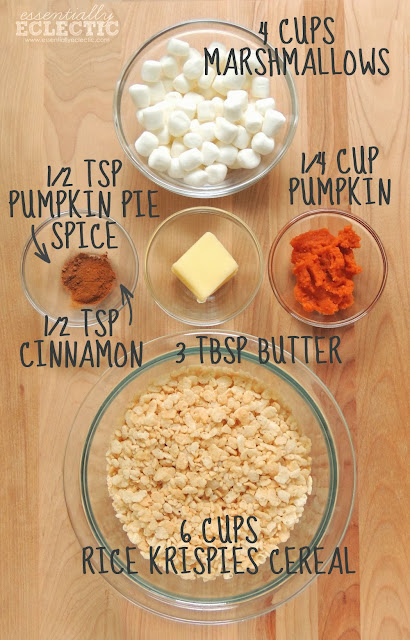 A simple and tasty treat, these Pumpkin Spice Krispie Treats are a festive fall dessert the whole family will love and they're done in just 10 minutes! | Fall dessert | Fall treat | Mom Makes Joy
